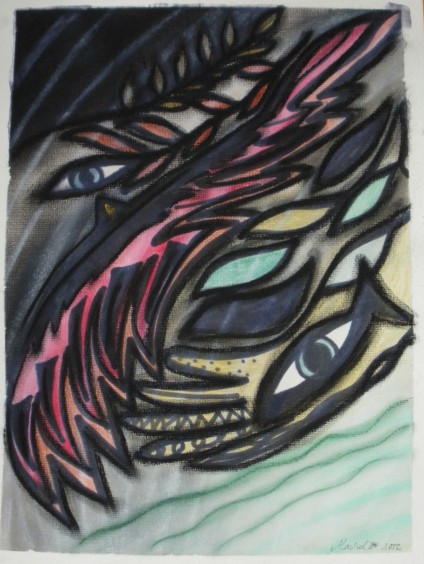 Flow 2012 Mixed akvarelles, pastels and marker
