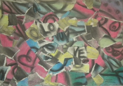 Love is all 2010 Mixed techniques on paper