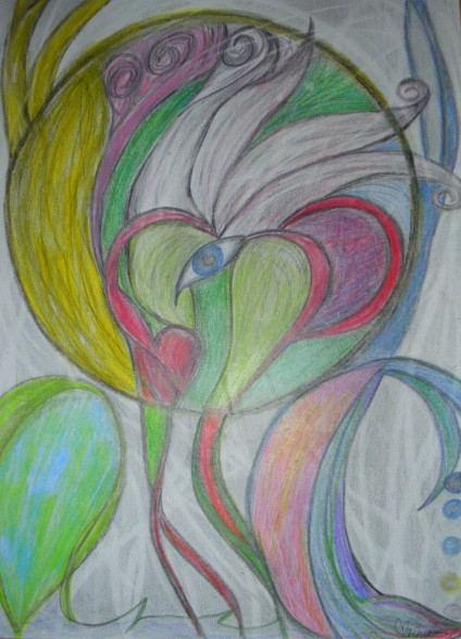 Wisdom within 2011 Colored pencil on paper